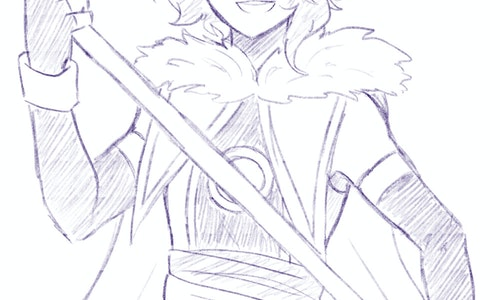Sketch halfbody