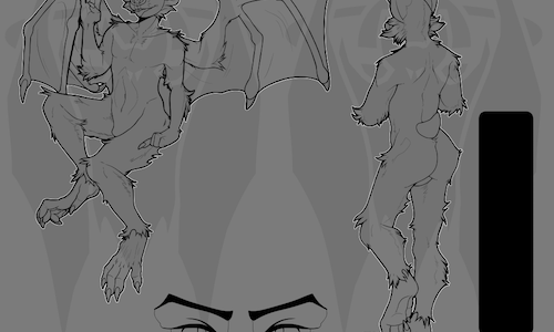 Vampire Bat Lineart Base