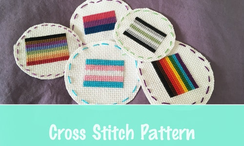 Queer Flag Cross Stitch Pattern