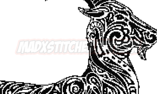 [CROSS STITCH PATTERN] Tribal Goat