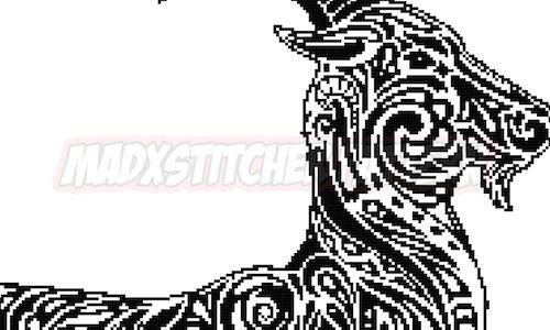 [CROSS STITCH PATTERN] Tribal Goat
