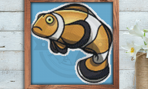 [CROSS STITCH PATTERN] Clownfish