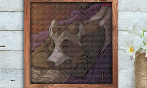 [CROSS STITCH PATTERN] Late Night Reading