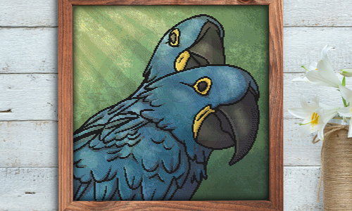 [CROSS STITCH PATTERN] Hyacinth Macaws